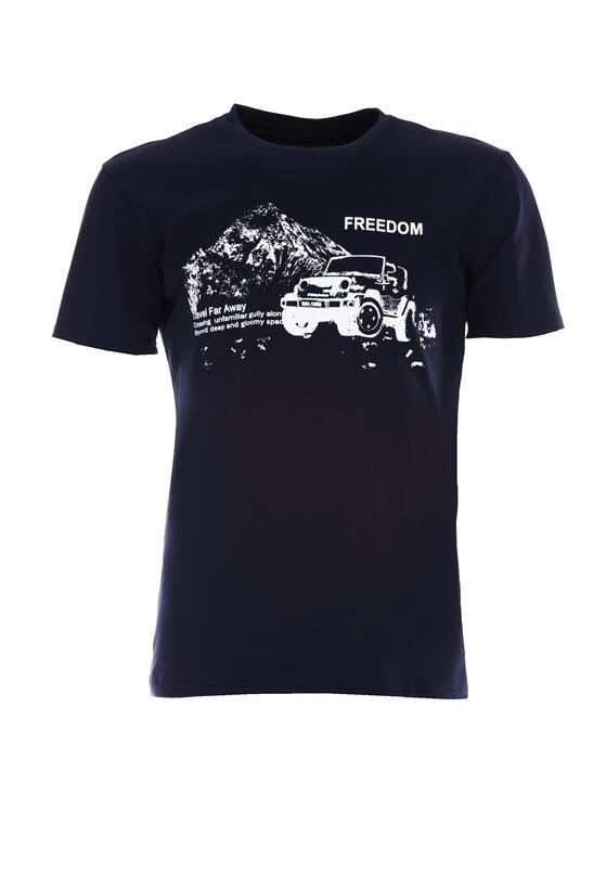 Granatowa Koszulka Reticence