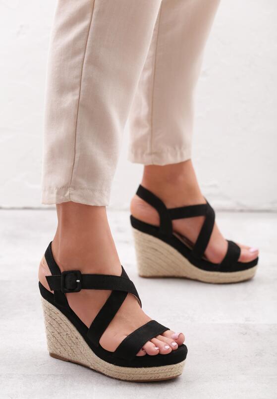 Czarne Sandały Foment