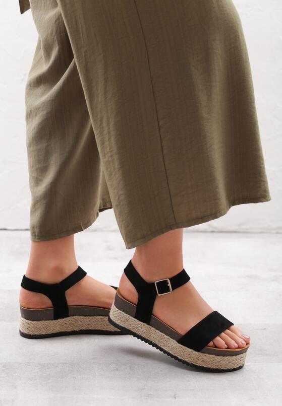 Czarne Sandały Forty
