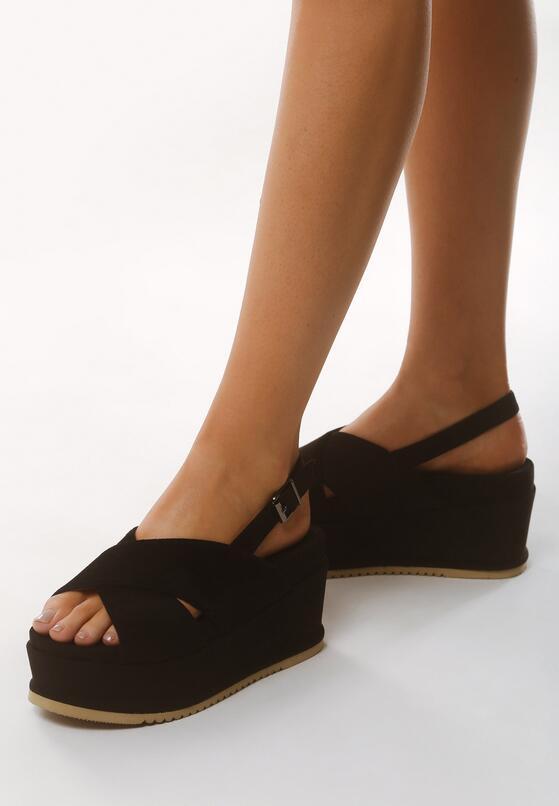 Czarne Sandały Sweltry