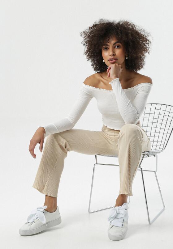 Jasnobeżowe Spodnie Irritative