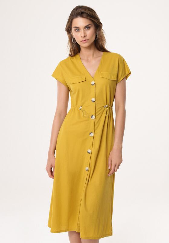 Żółta Sukienka Occlusive