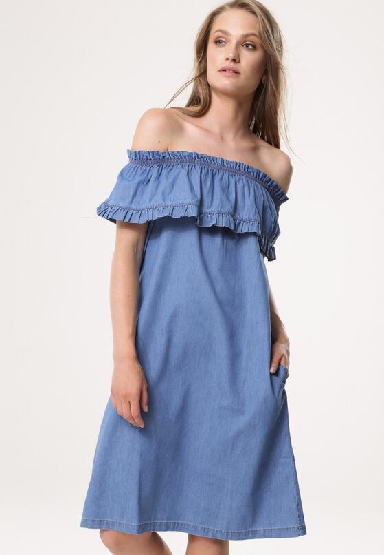 Niebieska Sukienka Candlelight