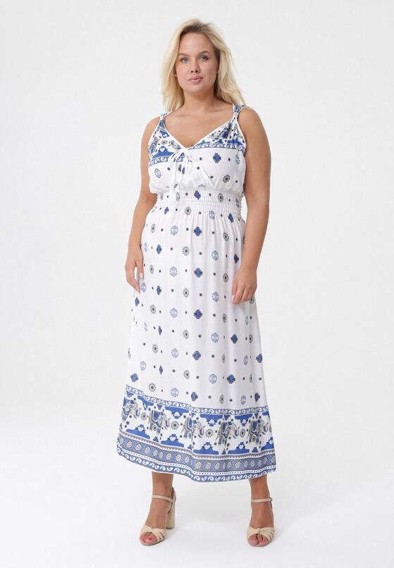 Biała Sukienka Junket