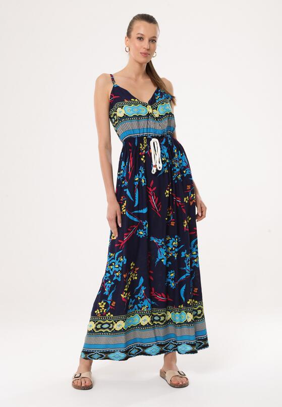 Granatowa Sukienka Jocund