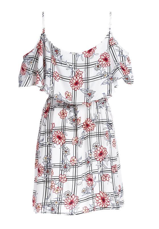 Biała Sukienka Blossoms