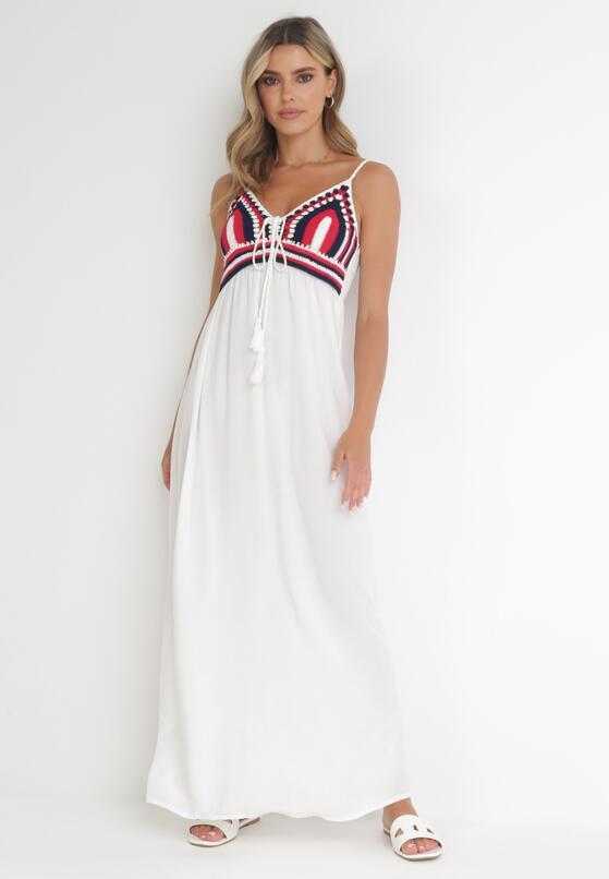 Biała Sukienka Wing In