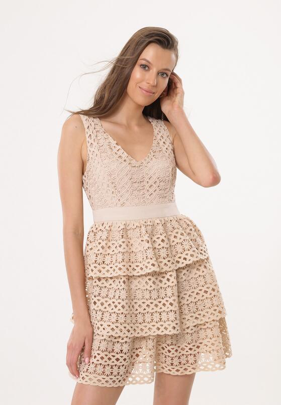 Beżowa Sukienka Cosmology