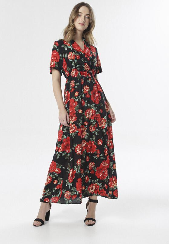 Czarna Sukienka Floral Joy