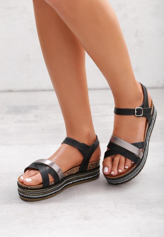 Czarne Sandały In Order