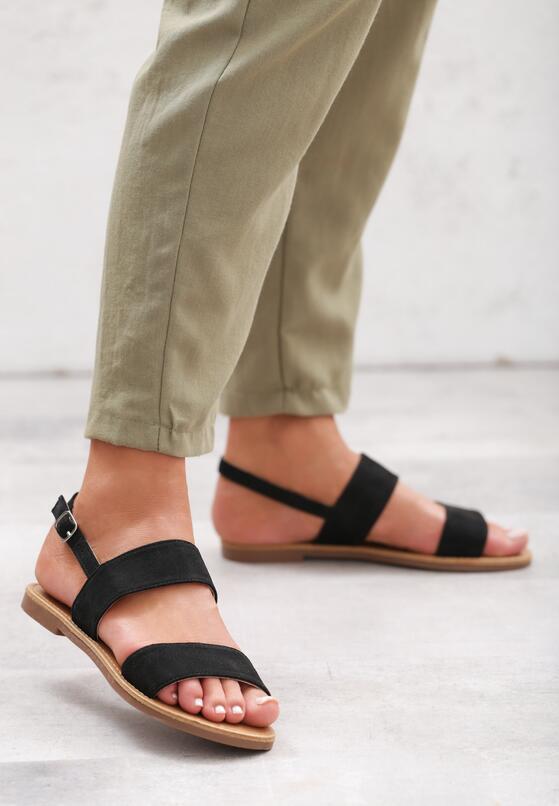 Czarne Sandały Gale