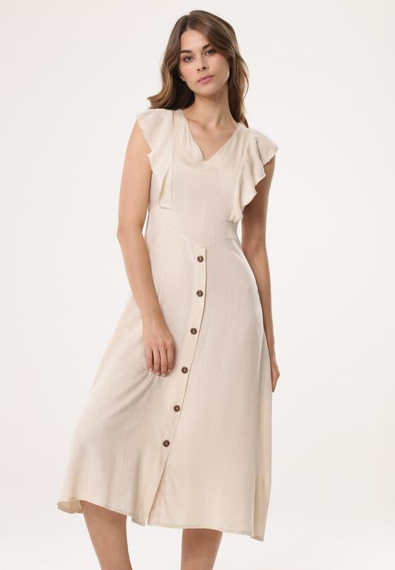 Beżowa Sukienka Congenital