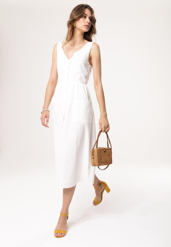 Biała Sukienka Close In
