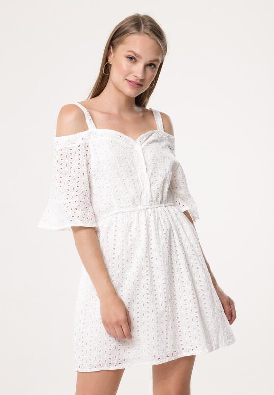 Biała Sukienka Sky In