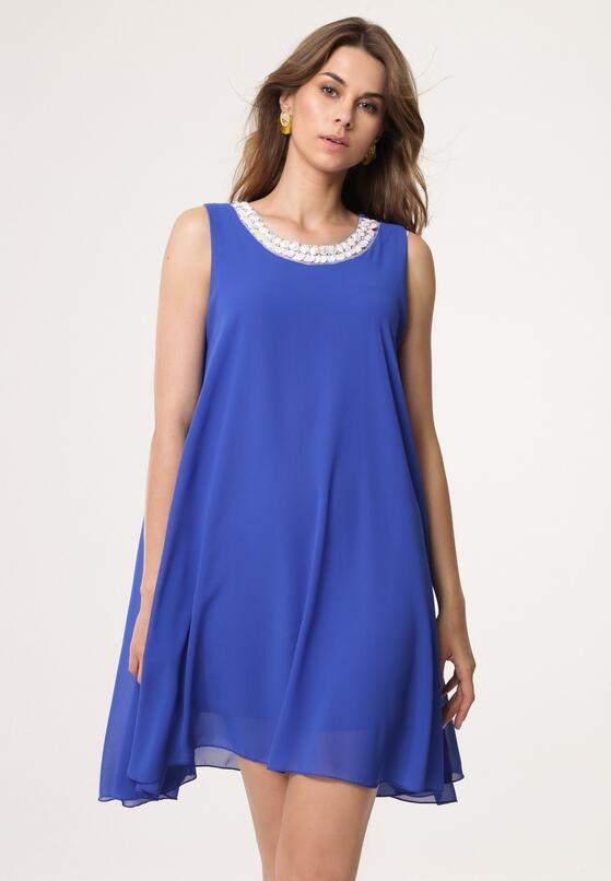 Ciemnoniebieska Sukienka Ininfection