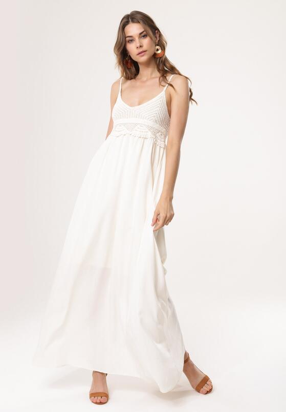 Kremowa Sukienka Relies