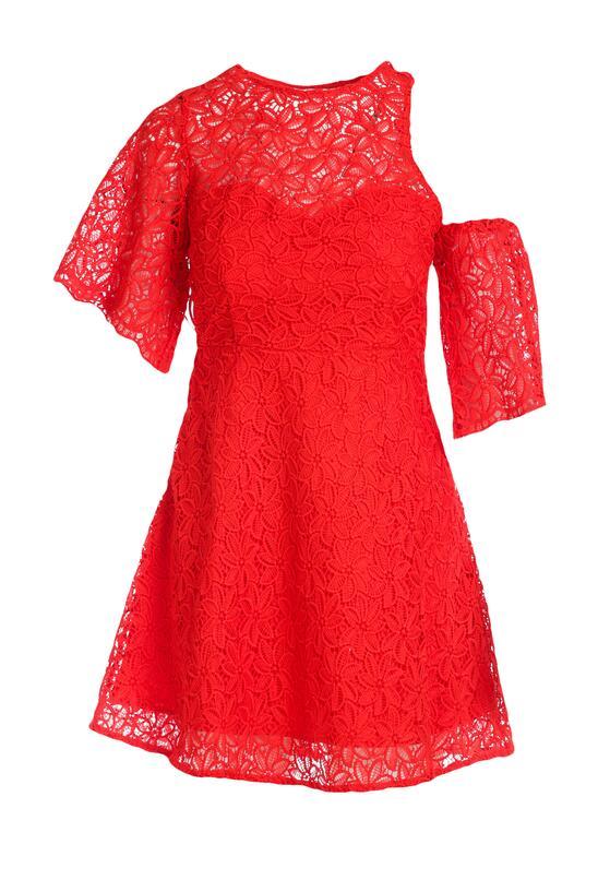 Czerwona Sukienka Sunny Shadow