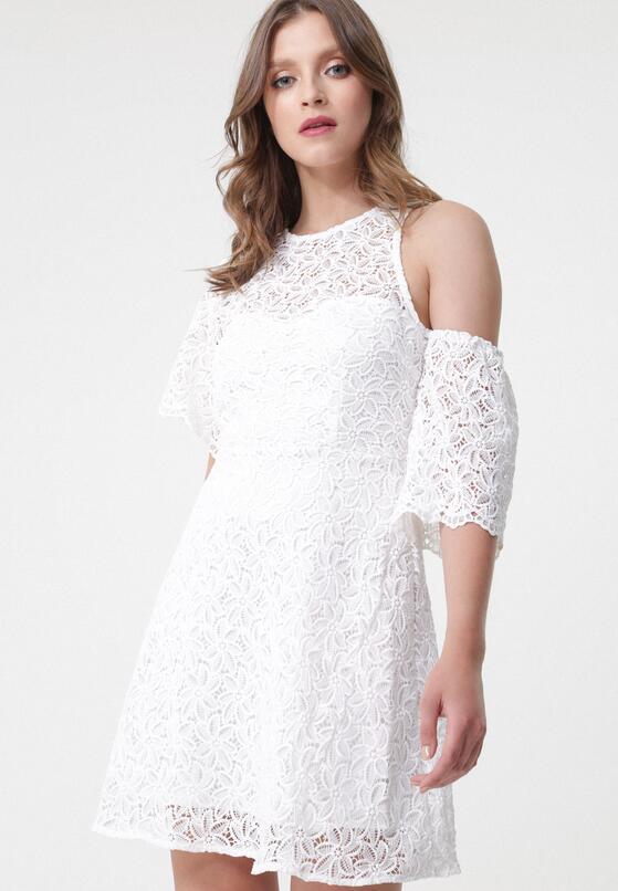 Biała Sukienka Sunny Shadow