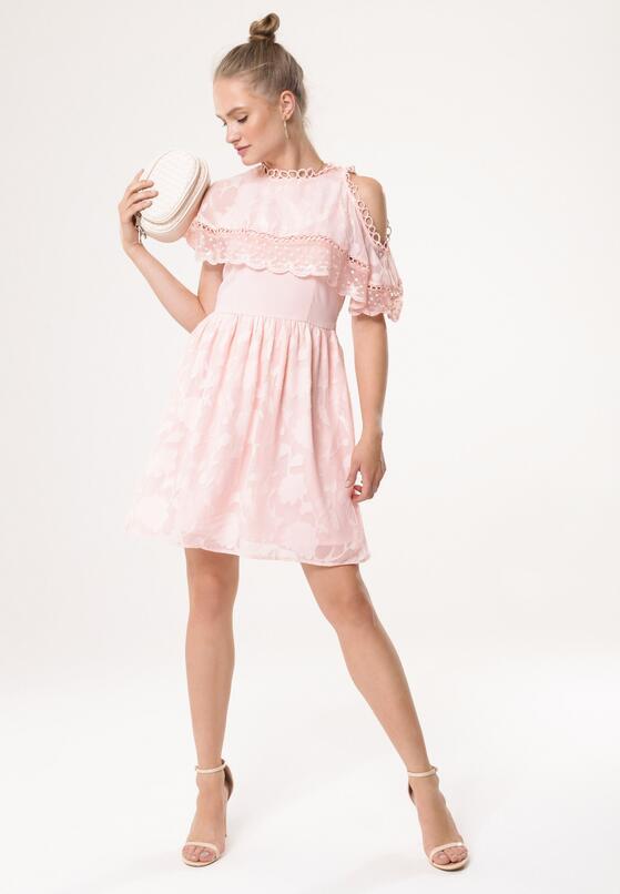 Różowa Sukienka Silver Fog