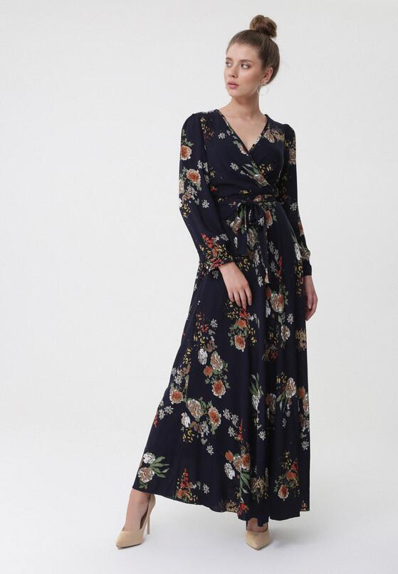 Granatowa Sukienka Cracked