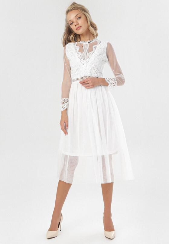 Biała Sukienka Describi