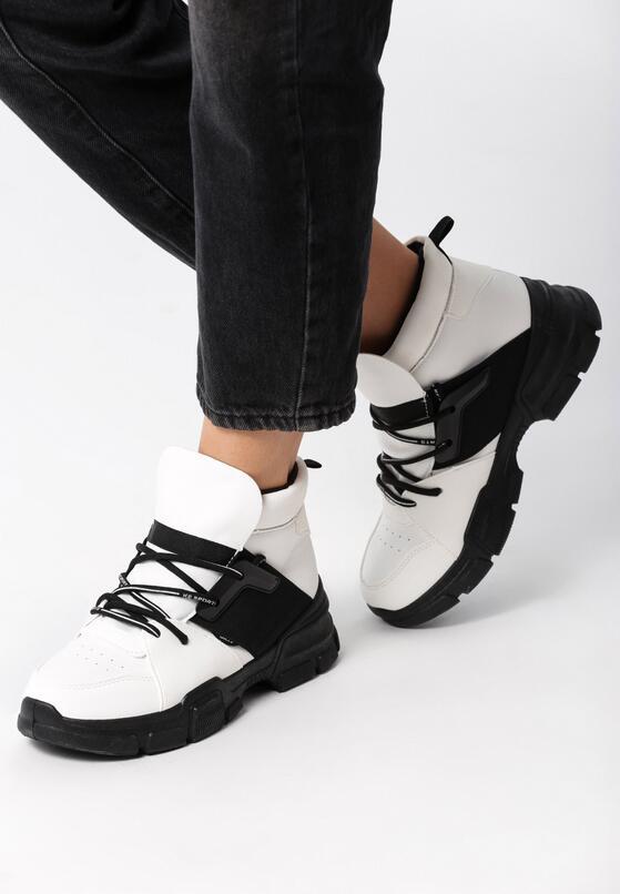 Biało-Czarne Sneakersy Breathing Space