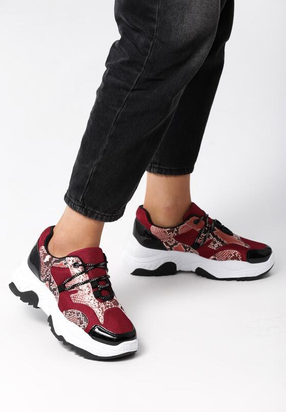 Bordowe Sneakersy Arum