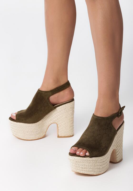 Zielone Sandały Catherine
