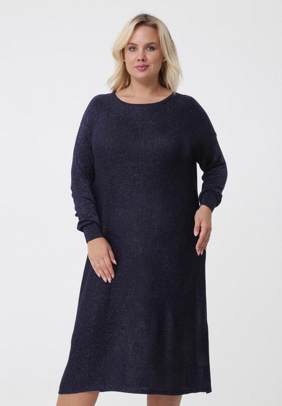 Granatowa Sukienka Cali