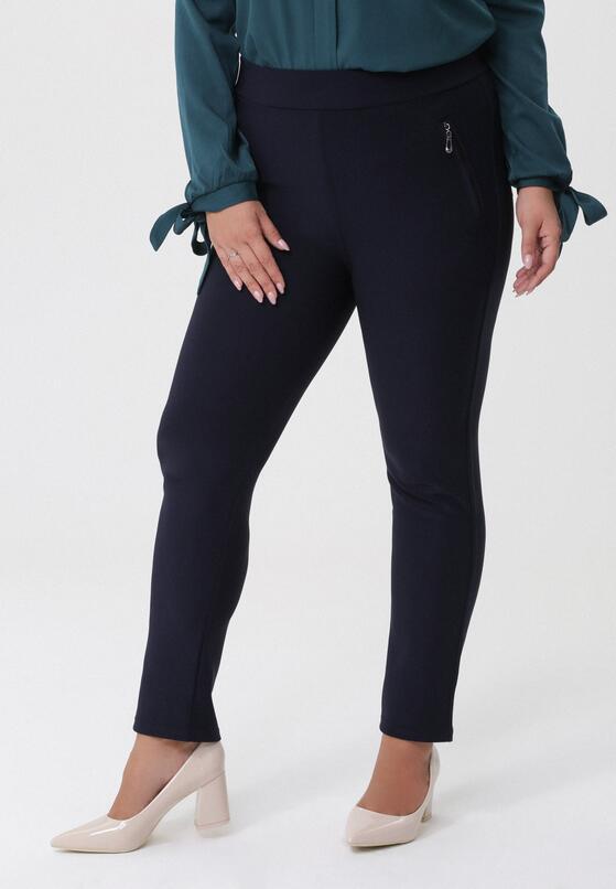 Granatowe Spodnie Daniella