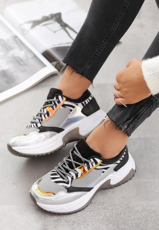 Szare Sneakersy Madelynn