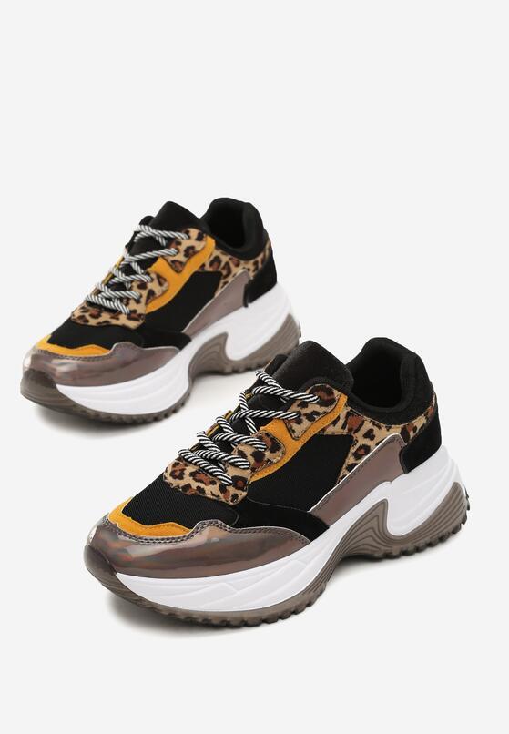 Czarne Sneakersy Madelynn