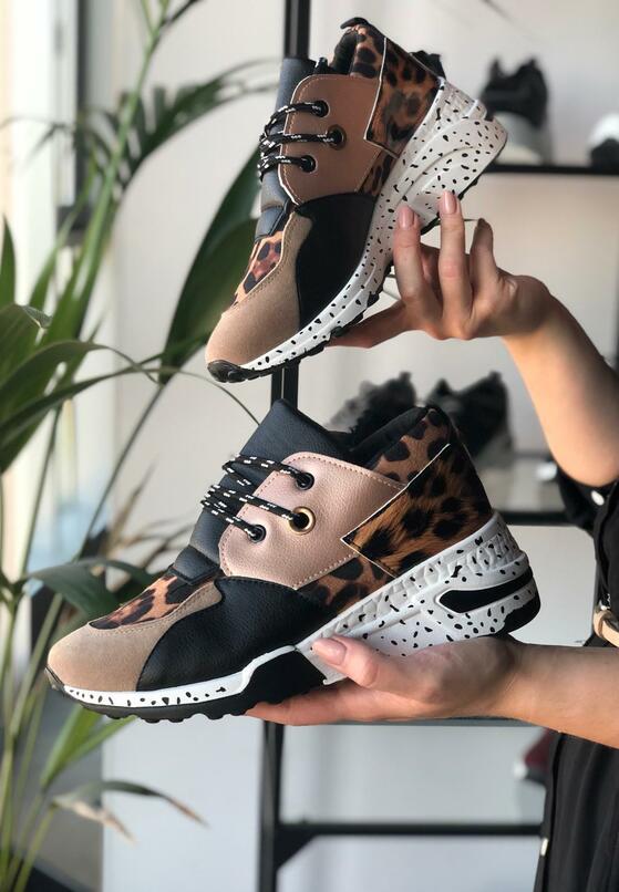 Beżowe Sneakersy Temperance