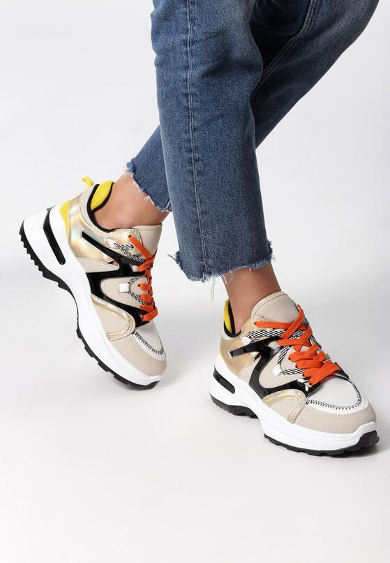 Beżowe Sneakersy Aleena