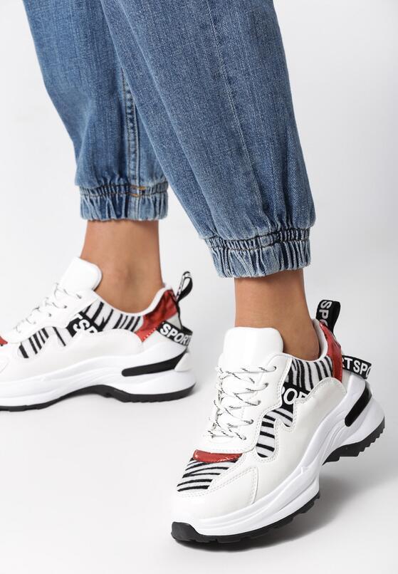 Biało-Czarne Sneakersy Henley