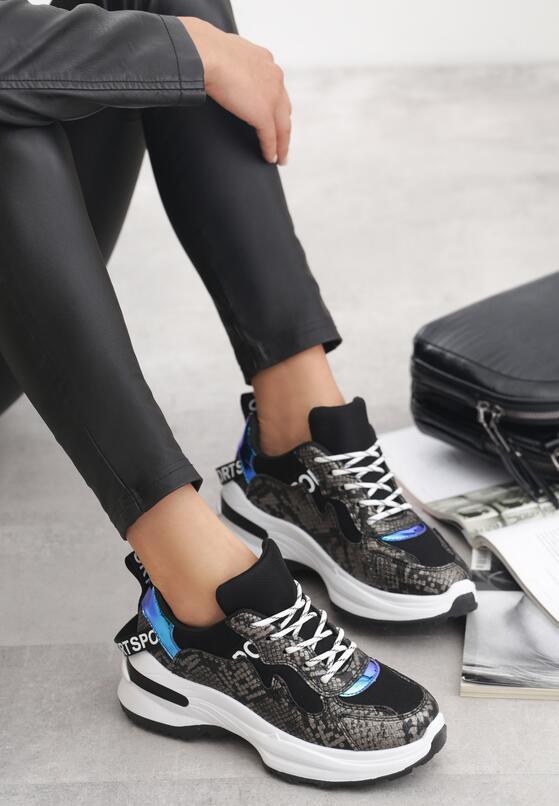Czarne Sneakersy Henley