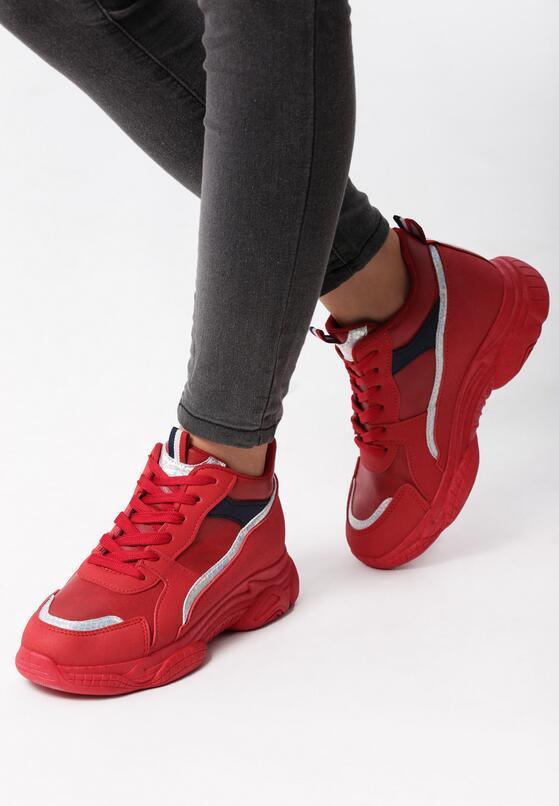Czerwone Sneakersy Baylee