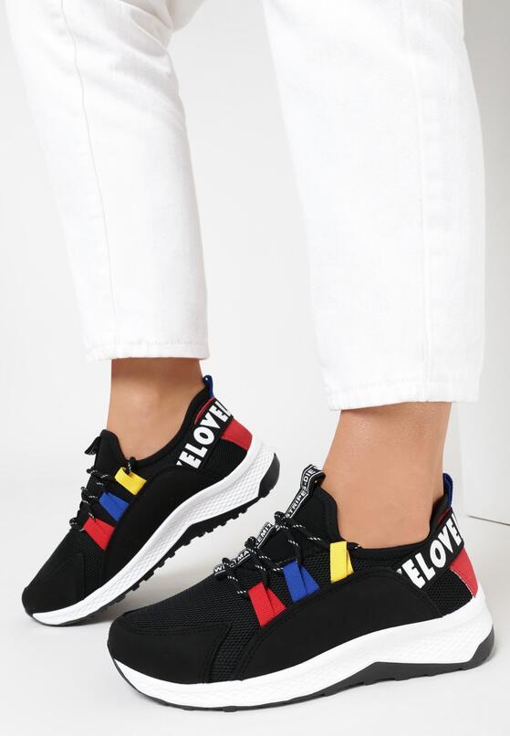Czarne Sneakersy Priscilla
