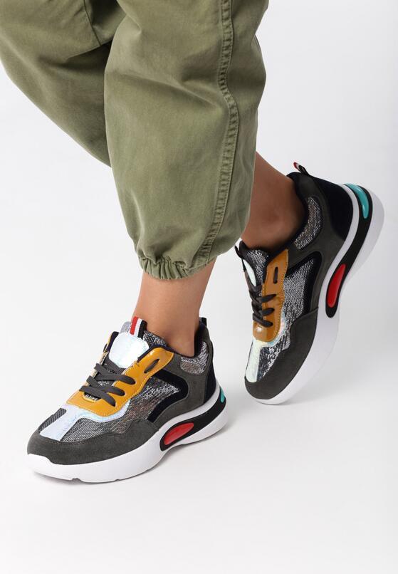 Szare Sneakersy Yareli