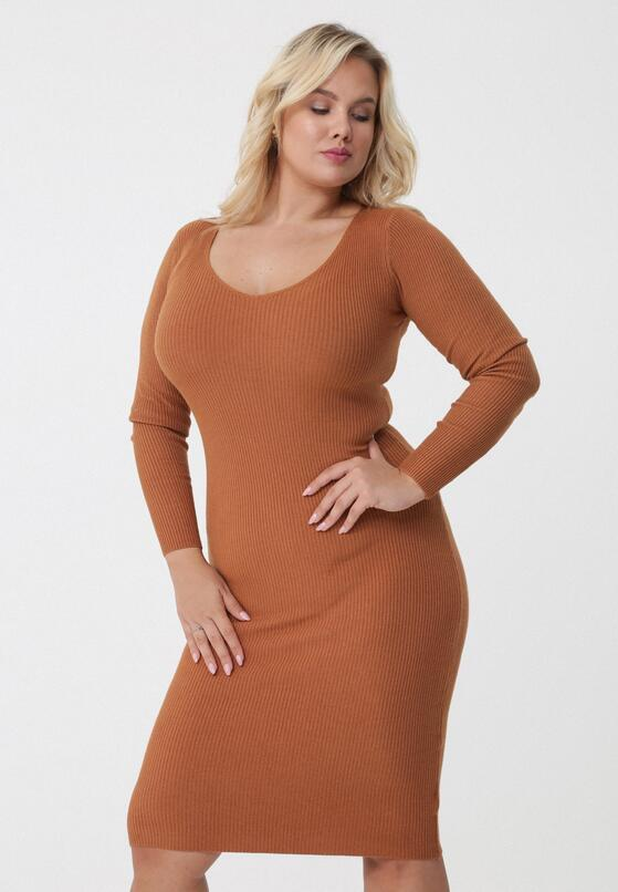 Camelowa Sukienka Roselyn