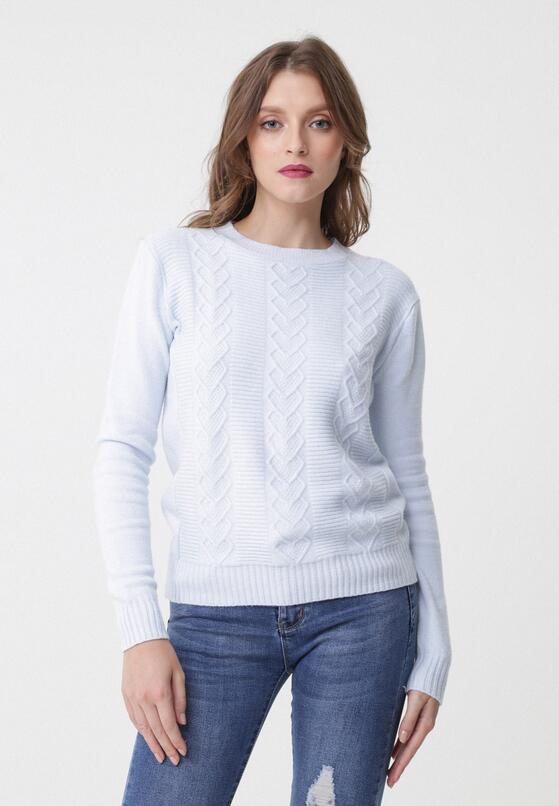 Jasnoniebieski Sweter Evolutive