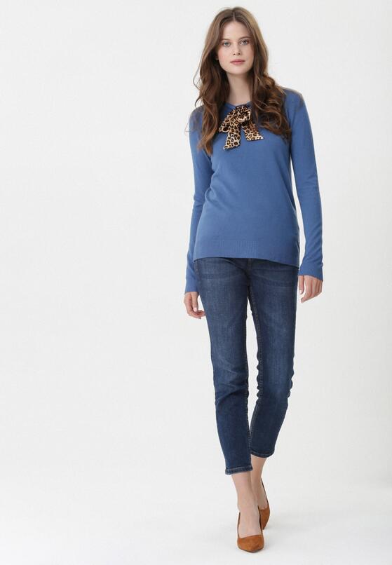 Ciemnoniebieski Sweter Leyla