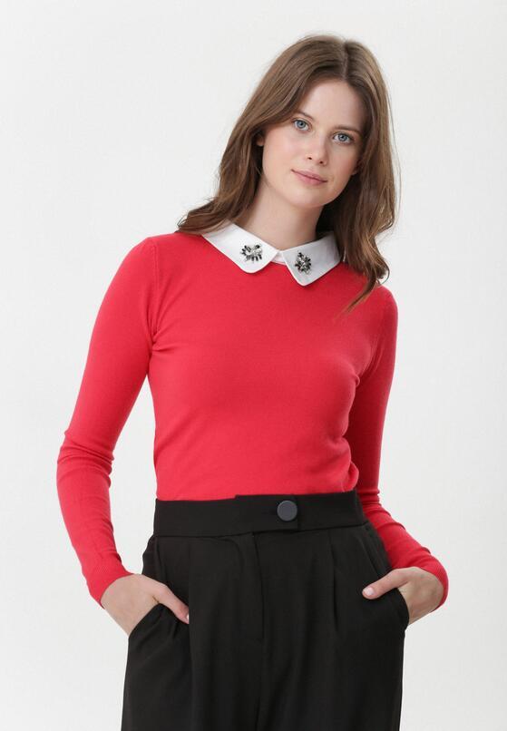 Czerwony Sweter Ryann
