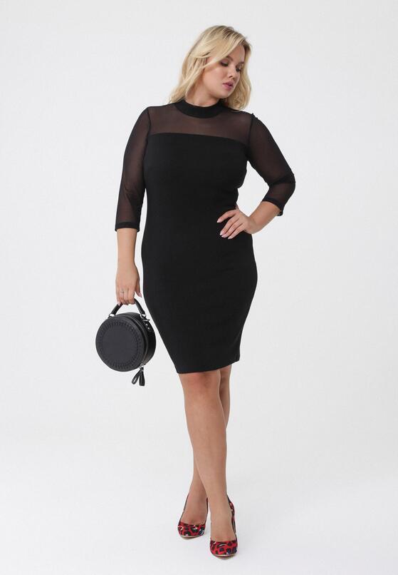 Czarna Sukienka Nanette
