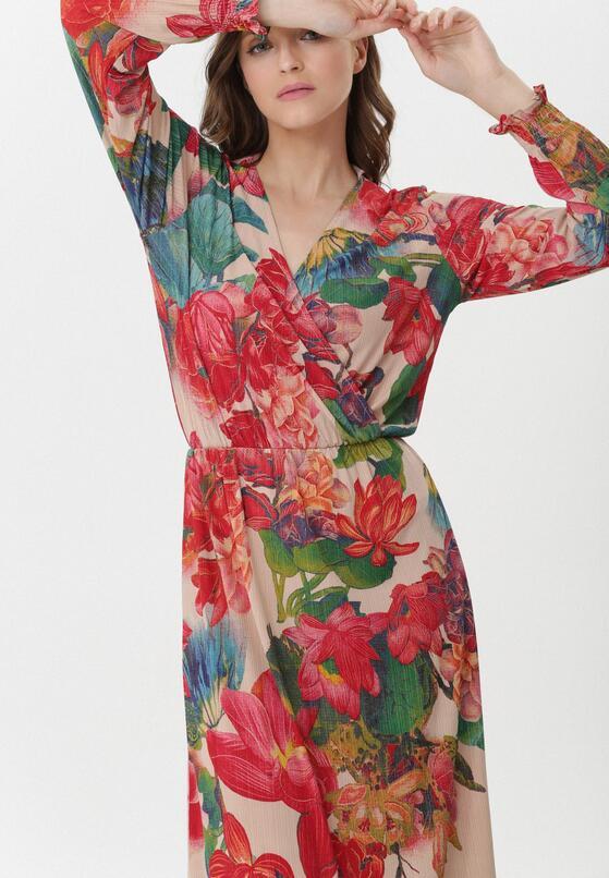 Beżowa Sukienka Geneva