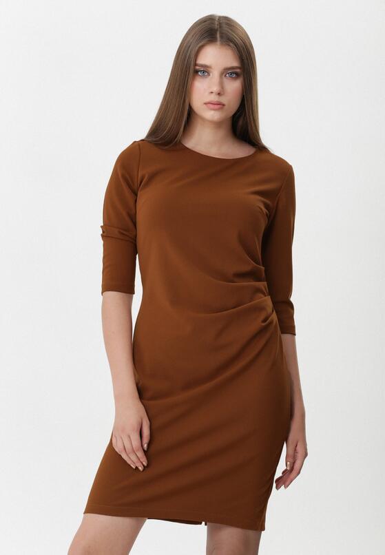 Brązowa Sukienka Leandra
