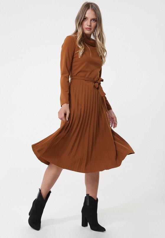 Brązowa Sukienka Riona