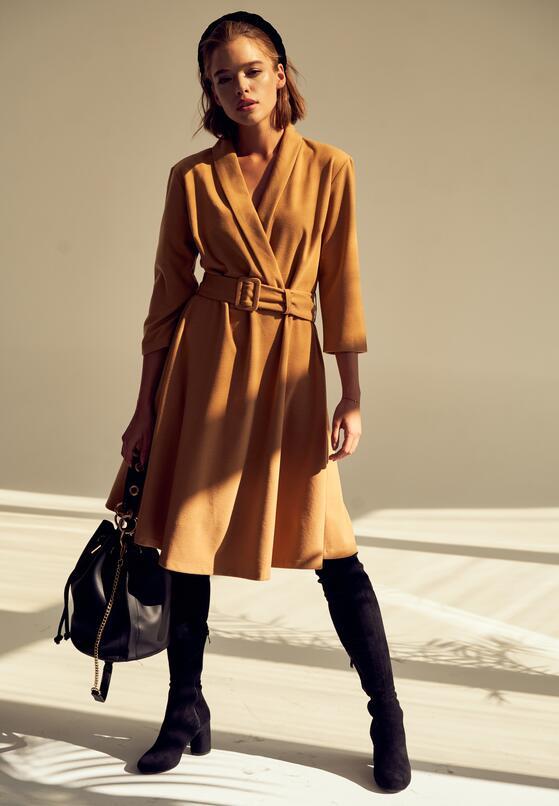 Camelowa Sukienka Damaris