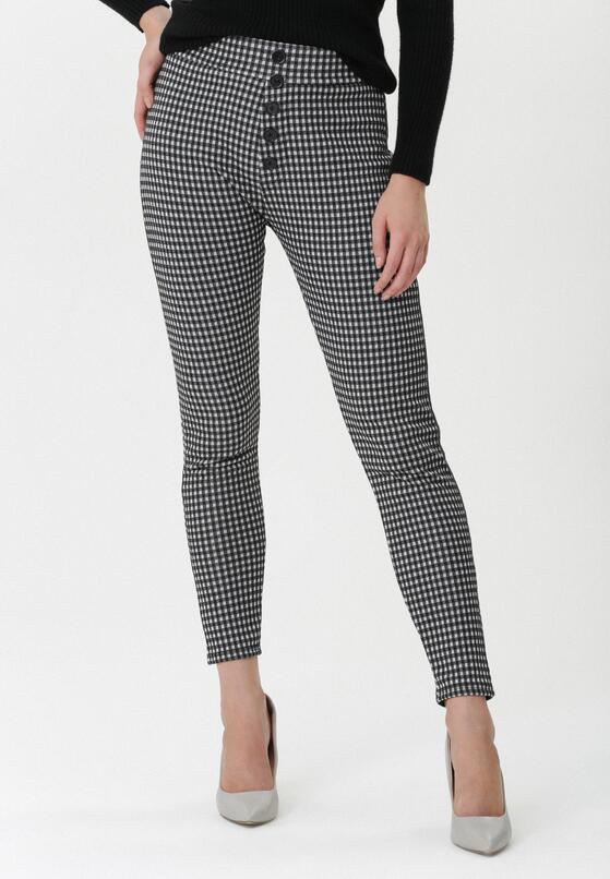 Czarno-Białe Spodnie Gretchen