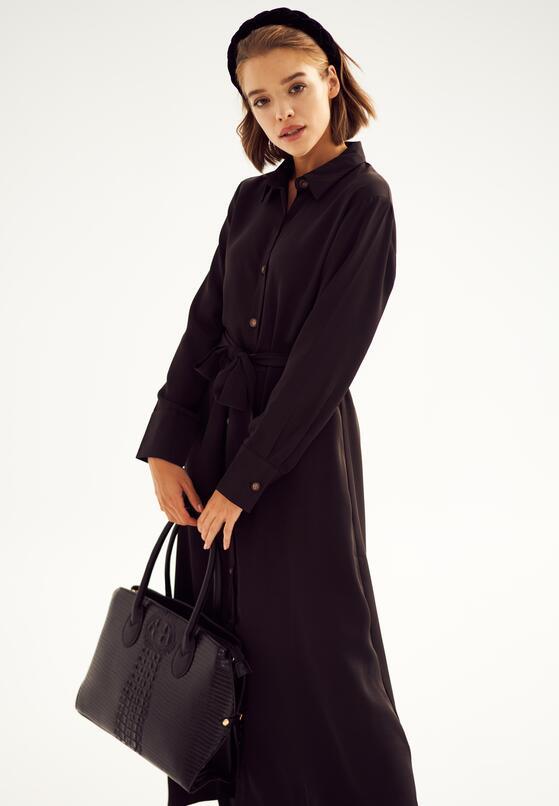 Czarna Sukienka Solfatara